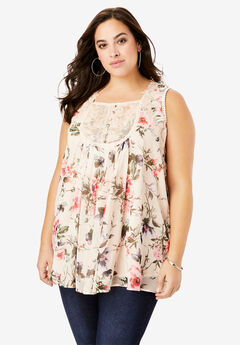Sleeveless Chiffon Top,