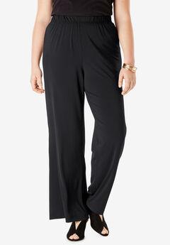 Wide-Leg Pant, BLACK