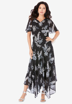 Floral Beaded Dress,