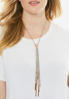 Tassel Necklace, TAUPE, hi-res