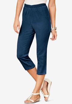 Pull-On Stretch Capri Jean,