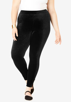 Velour Legging, BLACK