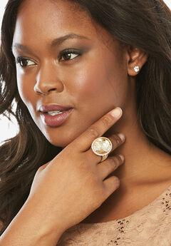 Goldtone Stud Ring,