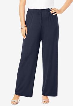 Ultrasmooth® Fabric Wide-Leg Pant, NAVY