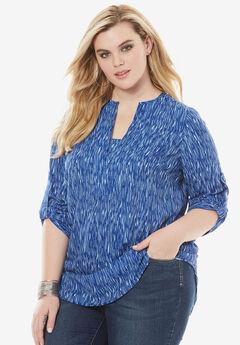 Geometric Tunic, LAPIS BLUE PRINT, hi-res