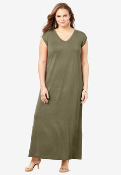 Side-Slit T-Shirt Dress,