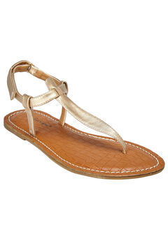 Lainey Sandals by Comfortview®, GOLD, hi-res