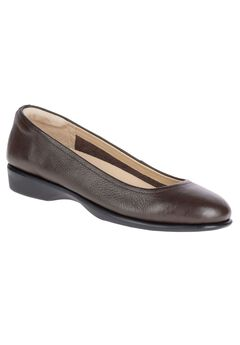 Tabee Paradise Flats by Hush Puppies®, DARK BROWN LEATHER, hi-res