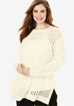 Loose Crochet Sweater,