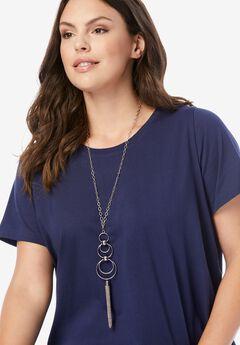 Chain Tassel Pendant Necklace,