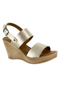 Cor-Italy Sandals by Bella Vita®, GOLD LEATHER