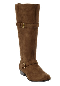 Henny Tall Calf Boots by Comfortview, CAMEL
