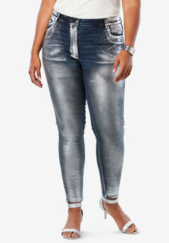 Metallic Skinny Jeans by Denim 24/7®,