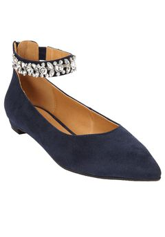 The Pamela Flat by Comfortview®, NAVY, hi-res