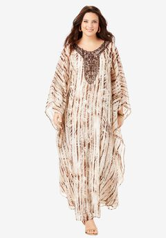 Beaded Caftan Dress,