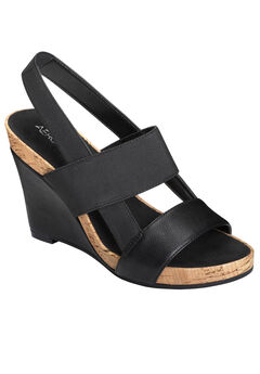 Magnolia Plush Wedge by Aerosoles®, BLACK, hi-res