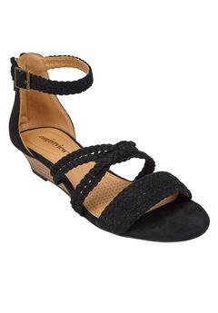 Velda Sandals by Comfortview®, BLACK, hi-res