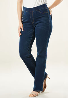 The No-Gap Slim Bootcut Jean by Denim 24/7®, DARK WASH