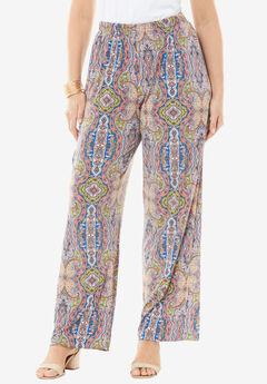 Wide Leg Pants , MULTI PAISLEY PRINT