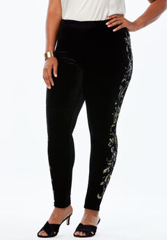 Velour Legging, METALLIC SEQUIN