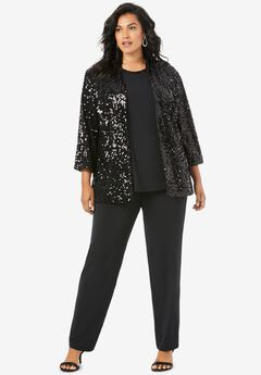 Three-Piece Sequin Pant Set,