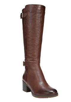 Rozene Wide Calf Boots by Naturalizer®, BANANA BREAD, hi-res