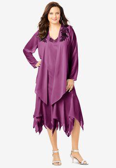 Sequin Jacket Dress Set, PRETTY ORCHID
