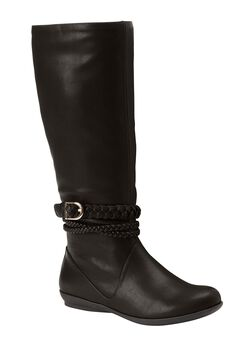 Tate Tall Calf Boots by Comfortview, BLACK, hi-res