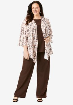 Three-Piece Pant Suit,
