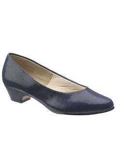 Angel II Pump by Soft Style, NAVY SMOOTH