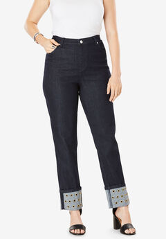 Grommet Jean by Denim 24/7®, DARK INDIGO