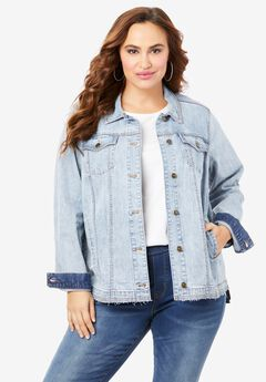 Distressed Denim Jacket,