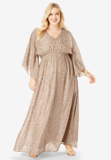 Kimono-Sleeve Maxi Dress