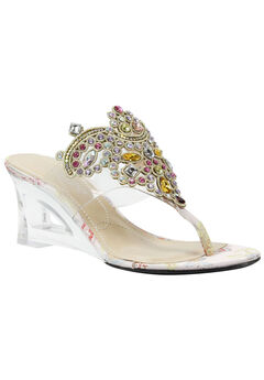Victorina Sandals by J. Renee®, CLEAR PASTEL MULTI, hi-res