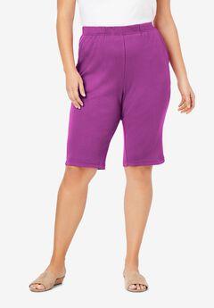 Soft Knit Bermuda Short, PURPLE MAGENTA