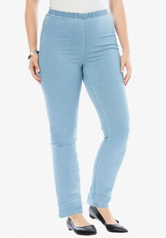 Stretch Bootcut Legging by Denim 24/7®, BLEACH, hi-res