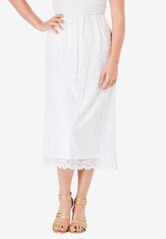 Lace Midi Skirt,