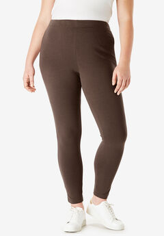 Ankle-Length Stretch Legging, CHOCOLATE, hi-res