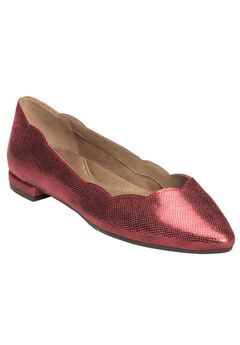 Flower Girl Flats by Aerosoles®, RED METALLIC, hi-res