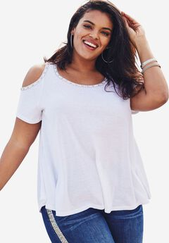 Cold-Shoulder Trapeze Tee,
