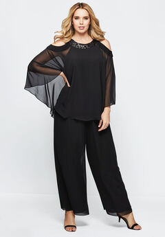 Cold Shoulder Pantset,