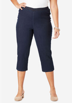 Pull-On Stretch Capri Jean by Denim 24/7®, INDIGO WASH