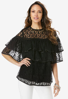 Lace Tiered Top,