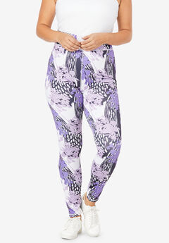 Performance Legging, LAVENDER FLORAL MIX