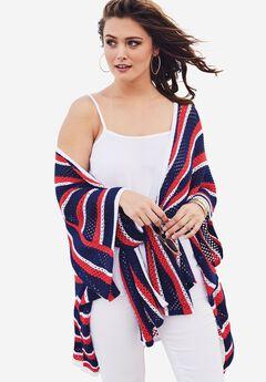 Striped Cardigan, MULTI STRIPE, hi-res