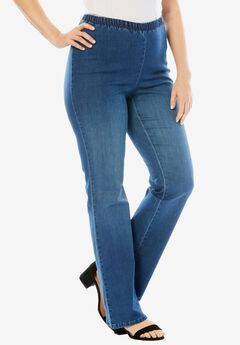 Stretch Bootcut PULL-ON PANT by Denim 24/7®,