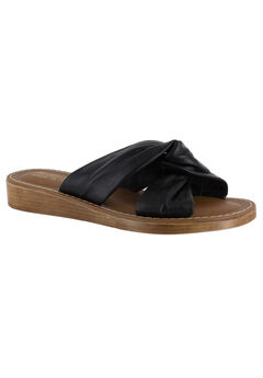 Noa-Italy Sandals by Bella Vita®, BLACK LEATHER, hi-res