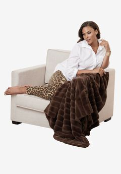 Faux Fur Throw Blanket,
