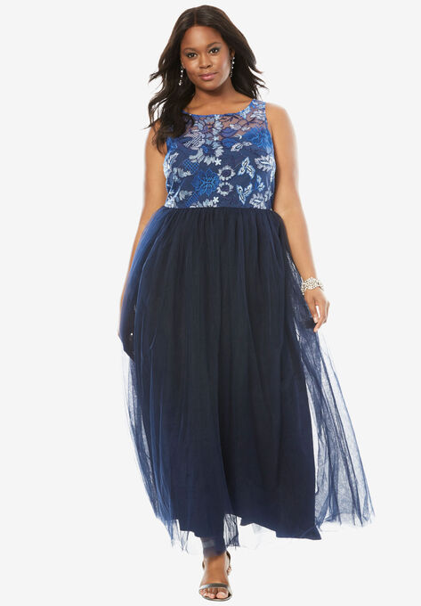 Floral Bodice Gown| Plus Size Formal & Special Occasion ...