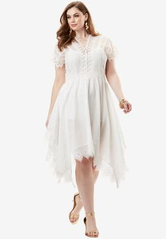 Lace Trim Dress,